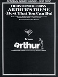Arthur's Theme (Best That You Can Do) - Piano/Vocal/Chords