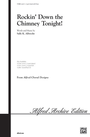 Rockin' Down the Chimney Tonight! - Choral