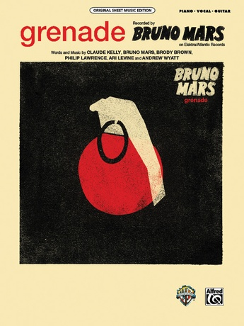 Grenade Bruno Mars Pianovocalchords Sheet Music